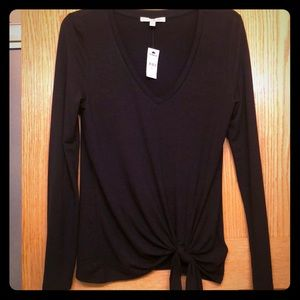 NWT Express One Eleven V-Neck Tie Top XS